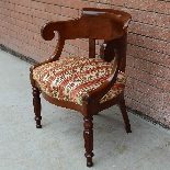 Antique Charles X Armchair in mahogany - 19th century-4