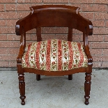 Antique Charles X Armchair in mahogany - 19th century-1