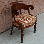Antique Charles X Armchair in mahogany - 19th century-3