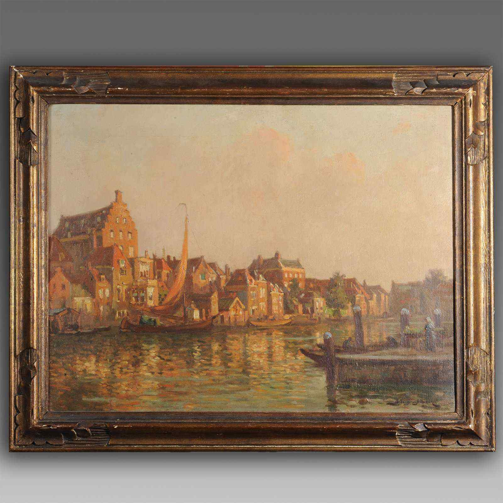 Quadro marina, Paul Bellanger-Adhémar (1868-1948)