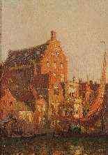 Paul Bellanger-Adhémar (1868-1948), Bassin à Dordrecht-1