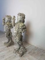Coppia di putti statue da giardino prima metà Sec. XX-7