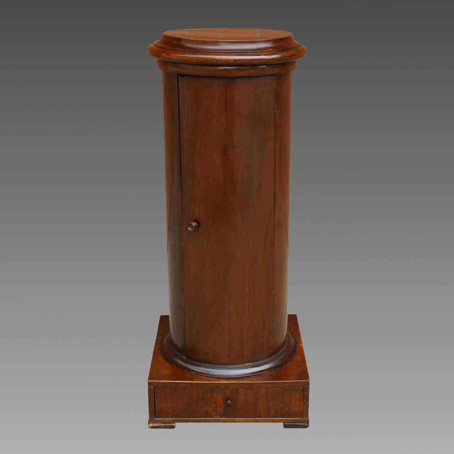 Antique Empire Somno Column in walnut - Italy 19th century