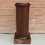 Antique Empire Somno Column in walnut - Italy 19th century-11