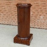 Antique Empire Somno Column in walnut - Italy 19th century-2