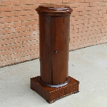 Antique Empire Somno Column in walnut - Italy 19th century-3