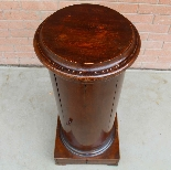 Antique Empire Somno Column in walnut - Italy 19th century-6