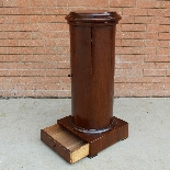Antique Empire Somno Column in walnut - Italy 19th century-8