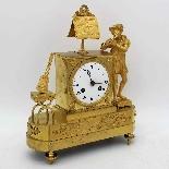 Ancien Horloge Pendule Empire en bronze - 19ème siècle-1
