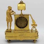 Ancien Horloge Pendule Empire en bronze - 19ème siècle-10