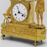Ancien Horloge Pendule Empire en bronze - 19ème siècle-9