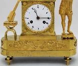 Ancien Horloge Pendule Empire en bronze - 19ème siècle-7