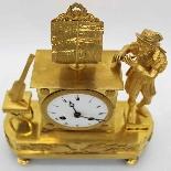 Ancien Horloge Pendule Empire en bronze - 19ème siècle-6