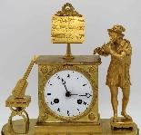 Ancien Horloge Pendule Empire en bronze - 19ème siècle-3