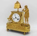 Ancien Horloge Pendule Empire en bronze - 19ème siècle-2
