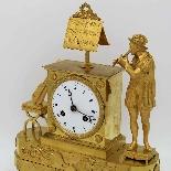 Ancien Horloge Pendule Empire en bronze - 19ème siècle-5