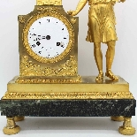 Antico Orologio a Pendolo Impero in bronzo - XIX secolo-7