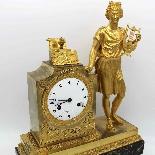 Antico Orologio a Pendolo Impero in bronzo - XIX secolo-4