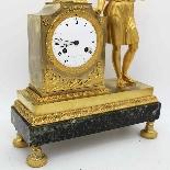 Ancien Horloge Pendule Empire en bronze - 19ème siècle-8