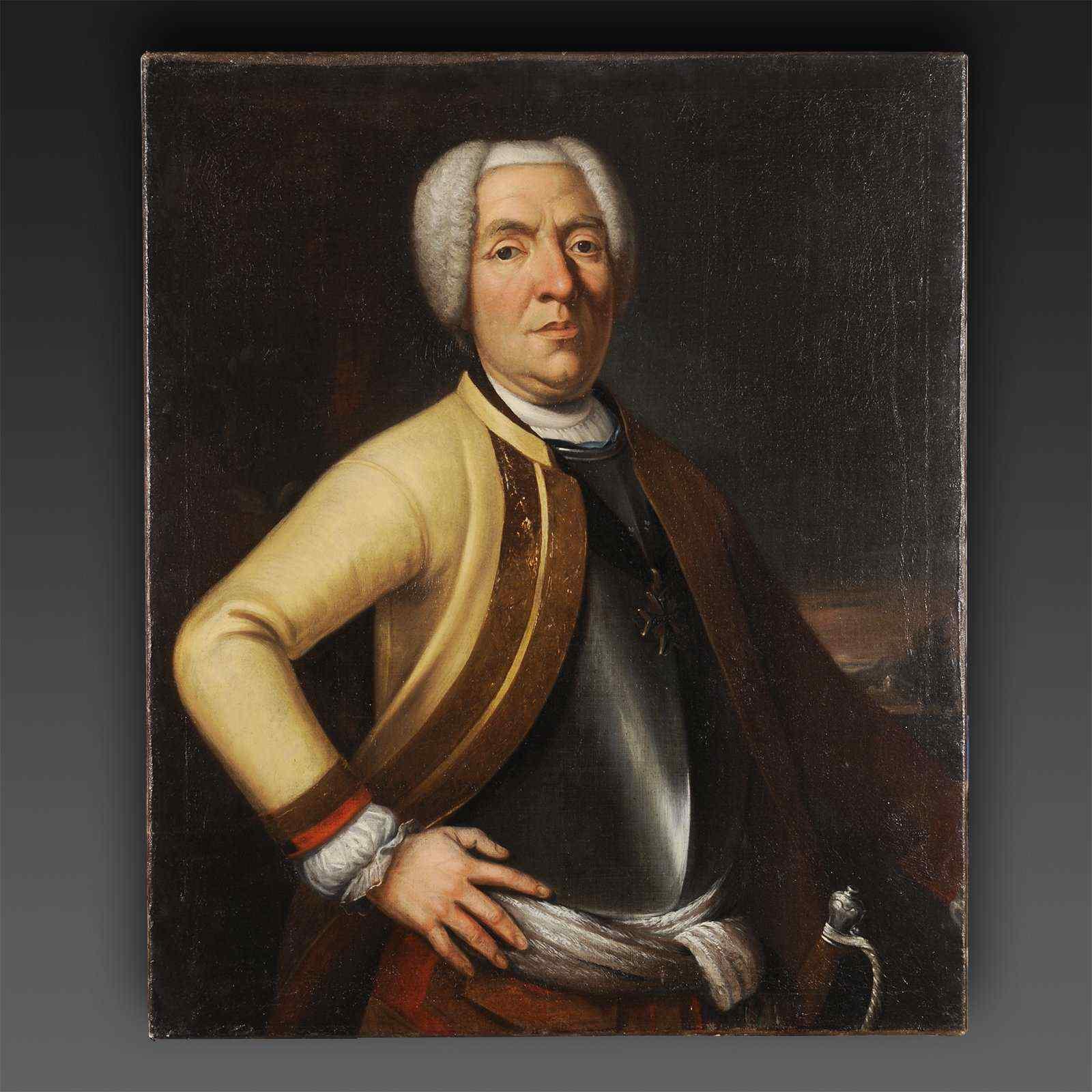 Portrait of a man,  Prussia, Leopold van Warstenleben