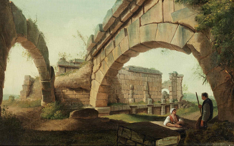 Capriccio architettonico firmato Mayer