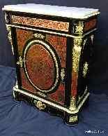 Cabinet in Boulle intarsiato XIX apertura su 1 porta Napoleo-0