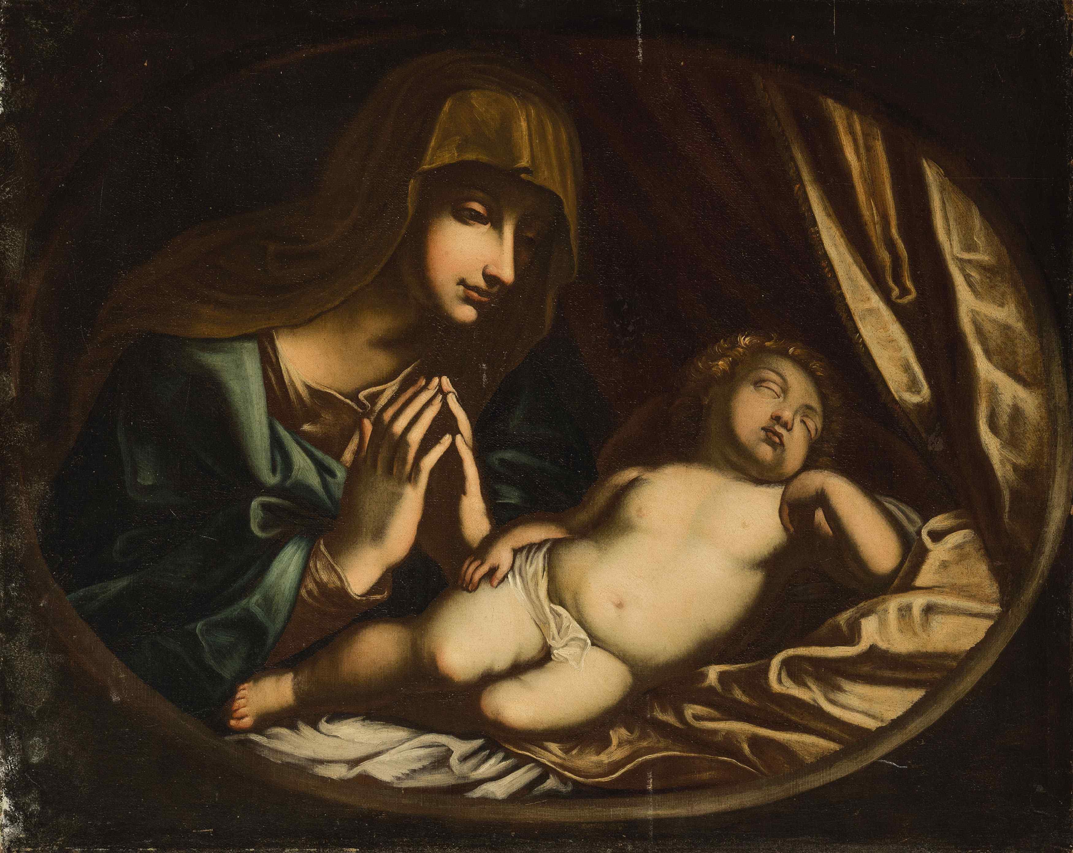 Madone avec enfant, atelier de Giovanni Battista Salvi