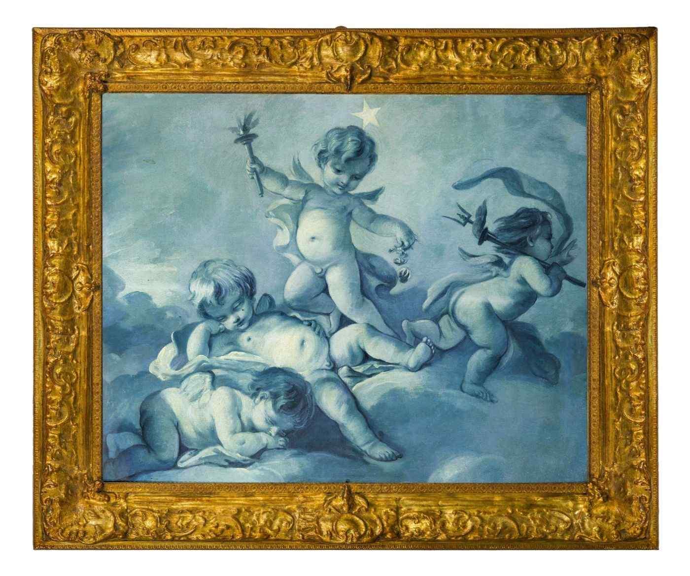 Gruppo di Putti alati, Scuola Francese di Francois Boucher