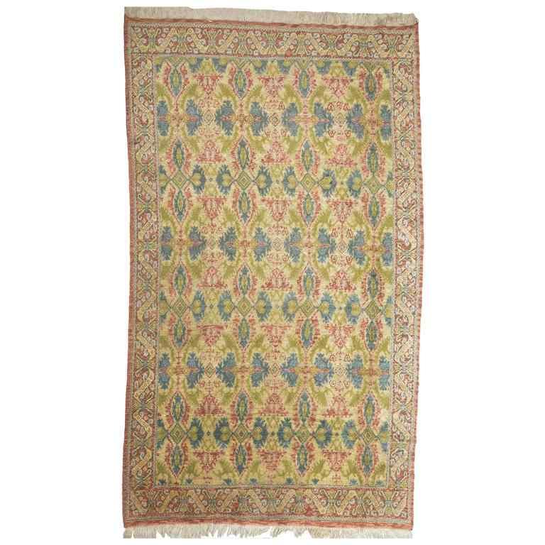 Antique Cuenca Carpet from Spain
