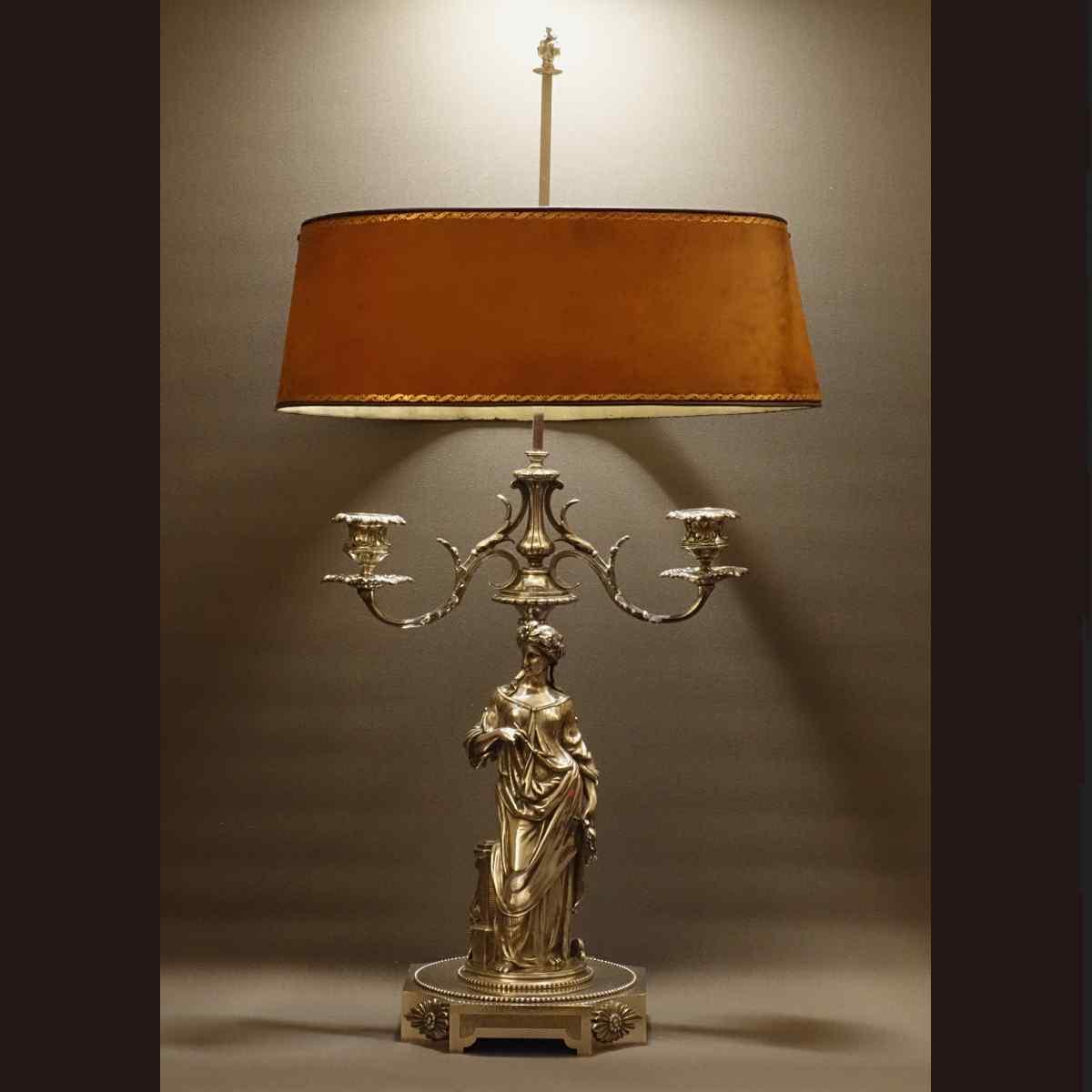 Inhabituelle et Importante Lampe Bouillotte XIXème