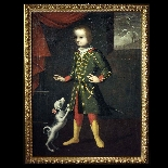 Portrait of a child with a dog, Veneto, 17th century-6