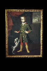 Portrait of a child with a dog, Veneto, 17th century-0