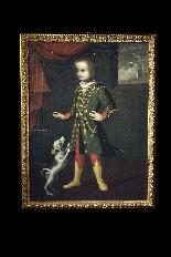 Portrait d'un enfant avec un chien, Vénétie, 17ème siècle-0