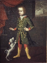 Portrait of a child with a dog, Veneto, 17th century-1