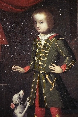 Portrait of a child with a dog, Veneto, 17th century-2
