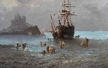 Henri Van Wyk, pescatori nella baia di Mont-Saint-Michel.-5