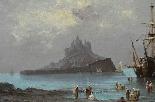 Henri Van Wyk, pescatori nella baia di Mont-Saint-Michel.-3