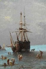 Henri Van Wyk, pescatori nella baia di Mont-Saint-Michel.-2