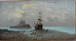 Henri Van Wyk, pescatori nella baia di Mont-Saint-Michel.-0