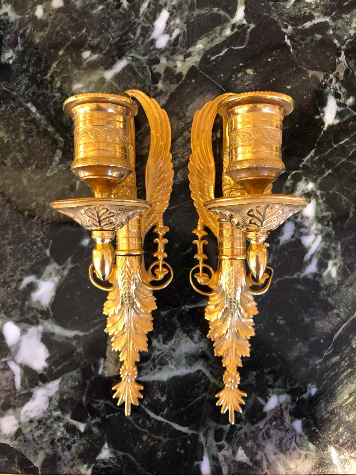 Pair of Empire Wall Lights