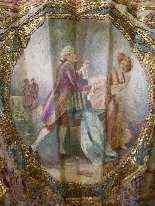 Elegante ventaglio in seta ricamata, XIX secolo-9
