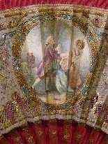 Elegante ventaglio in seta ricamata, XIX secolo-13