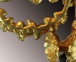 Coppia di Candelabri in bronzo patinato e dorato-13