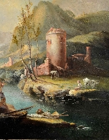 Paysage fluvial - Francesco Zuccarelli (1702 - 1788)-5