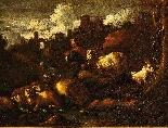Paesaggio con pastore e armenti.-0