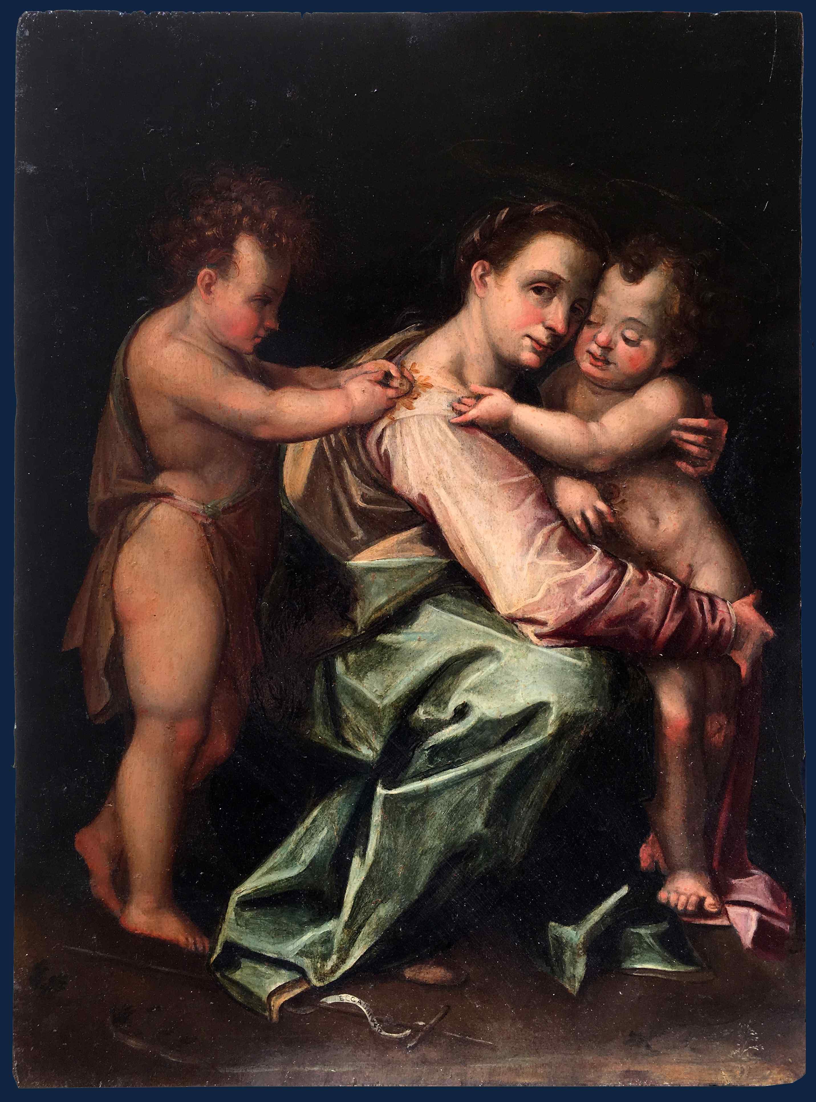 XVI secolo, Madonna con Bambino e San Giovanni, Tavola