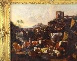 Johann Heinrich ROOS - Paesaggio romano con scena agreste-3