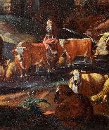 Johann Heinrich ROOS - Paesaggio romano con scena agreste-2
