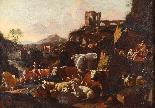 Johann Heinrich ROOS - Paesaggio romano con scena agreste-1