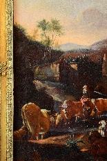Johann Heinrich ROOS - Paesaggio romano con scena agreste-4